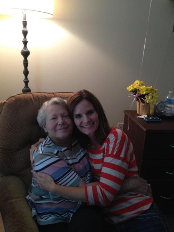 Mom and me in hospice
